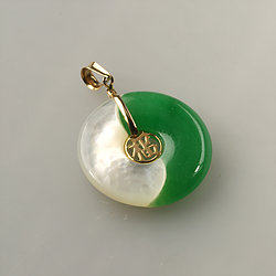 Jade pendant green jade pendant jade shop solid 14k gold green jade pendant collection mozeypictures Image collections