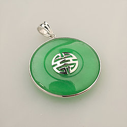 Jade pendant green jade pendant jade shop item number aloadofball Choice Image